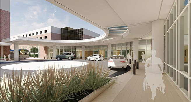 ProHealth Waukesha Memorial Hospital 2020 east entry project.