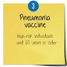Post it pneumonia vaccine
