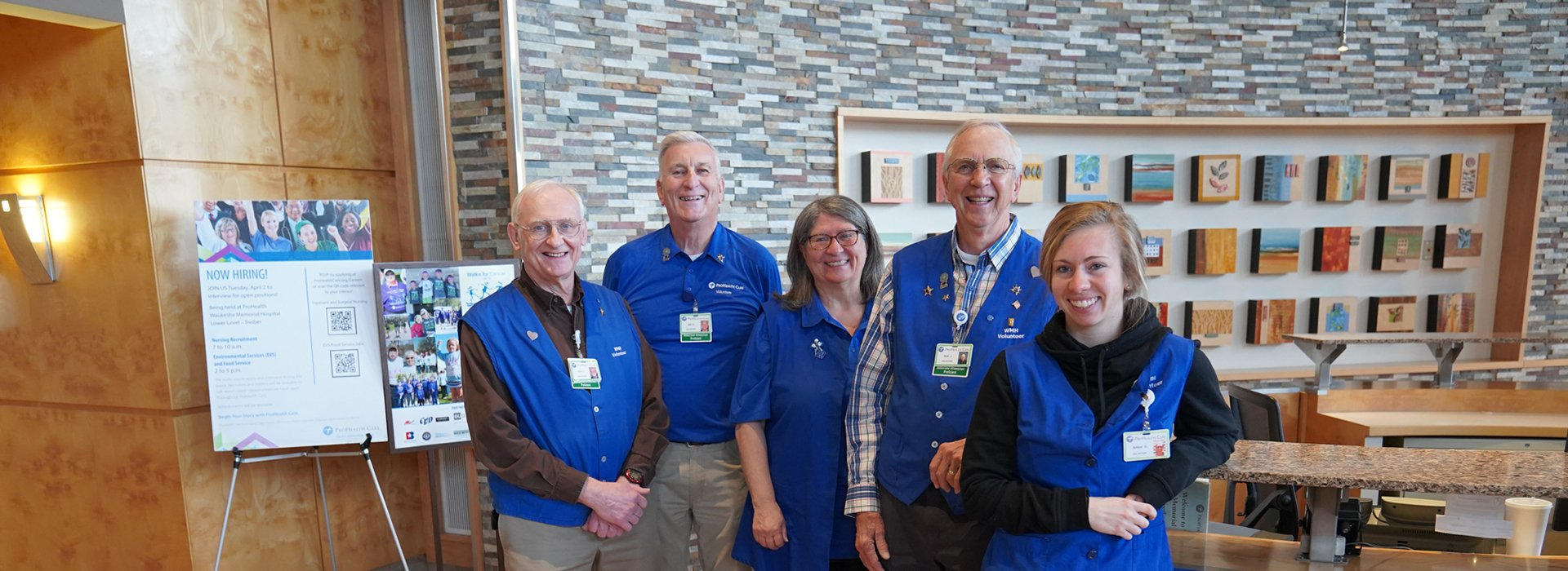 Volunteers at Waukesha Memorial Hospital.