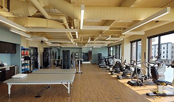 The new physical therapy gym at ProHealth Care's Rehabilitation Services location in Brookfield.